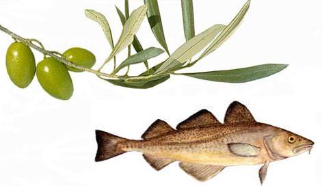 L'Huile d'Olive et la Morue dans la Diète Méditerranéenne