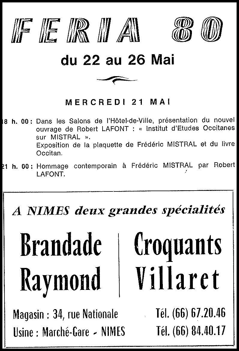 Raymond Geoffroy, Partenaire de la Féria